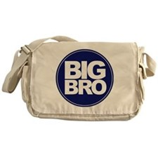circle big bro blue Messenger Bag