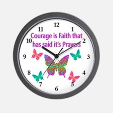 CHOOSE COURAGE Wall Clock