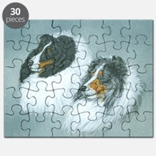 Blue and Tri Sheltie Heads Puzzle