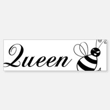 queenbee-black Bumper Bumper Sticker