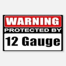 Warning 12 Gauge Sticker (Rectangle 10 pk)