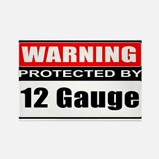 Warning 12 Gauge Rectangle Magnet