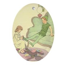 nursery peter pan Oval Ornament