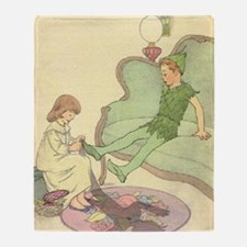 nursery peter pan Throw Blanket