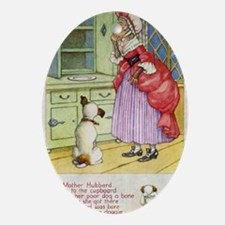 Old Mother Hubbard Vintage Board Oval Ornament