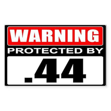 Warning .44 Sticker (Rectangle 50 pk)