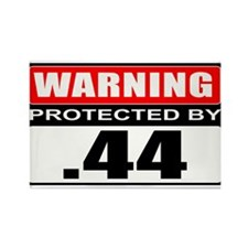 Warning .44 Rectangle Magnet