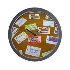 Assortment of Affirmation Cards Wall Clock