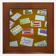 Assortment of Affirmation Cards Framed Tile