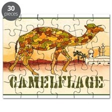 CAMELFLAGE greeting card Puzzle