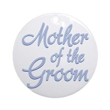 Amore Mother Groom Blue Ornament (Round)