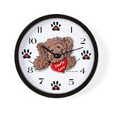 Labradoodle clock Wall Clocks