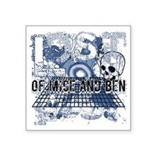 """Lost of Mice and Ben Blue Square Sticker 3"""" x 3"""""""