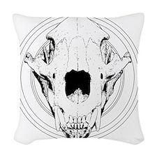 Sigil-WholeBearSkull Woven Throw Pillow