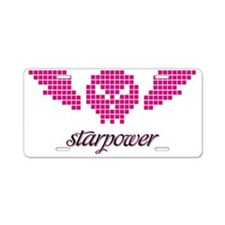 winged-skull1-pink Aluminum License Plate