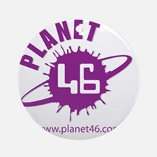 PLANET 46 LOGO 3 Round Ornament