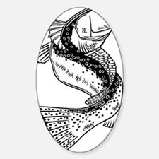 dragonspecktrans Sticker (Oval)
