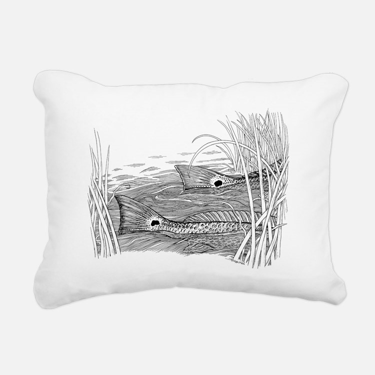 tailsingrasstrans Rectangular Canvas Pillow