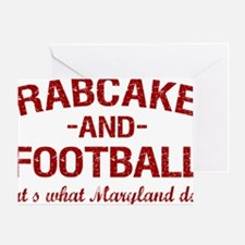 2-Crabcakes-and-Football Greeting Card