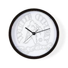 wide open racing Wall Clock