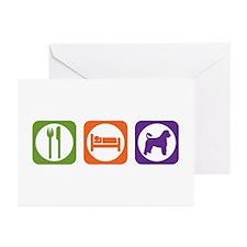 Eat Sleep Portuguese Greeting Cards (Pk of 10)