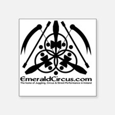"Emblem-Transparent-Black Square Sticker 3"" x 3"""