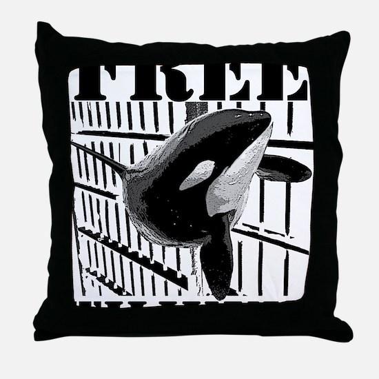 Free_Tilikum3_rgb Throw Pillow
