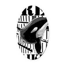 Free_Tilikum3_rgb Oval Car Magnet