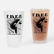 Free_Tilikum3_rgb Drinking Glass