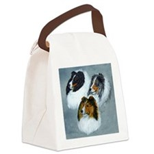 three heads square Canvas Lunch Bag