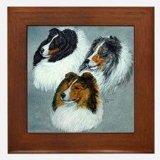 three heads square Framed Tile