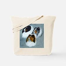 three heads square Tote Bag