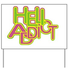 heli addict black Yard Sign