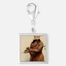 DICKENS COPPERFIELD micawber  Silver Square Charm