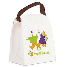 2 figures color12 copy Canvas Lunch Bag