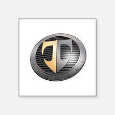 "2-TuscaniLargeAngle Square Sticker 3"" x 3"""
