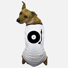 Vinyl Record Turntable Dog T-Shirt