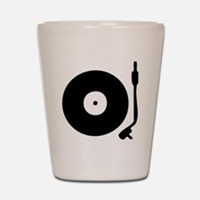 Vinyl Record Turntable Shot Glass