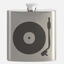 Vinyl Record Turntable Flask