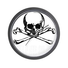 Skull (Live Free or Die) Wall Clock