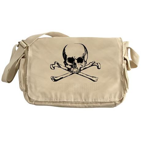 Skull (Live Free or Die) Messenger Bag