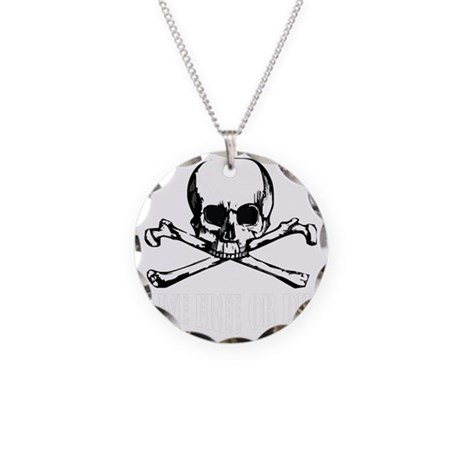 Skull (Live Free or Die) Necklace Circle Charm