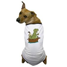 dinosaur pirate, no logo Dog T-Shirt