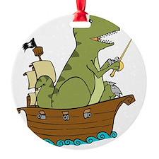 dinosaur pirate, no logo Ornament
