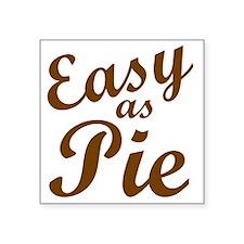 """Easy Final (justin) Square Sticker 3"""" x 3"""""""
