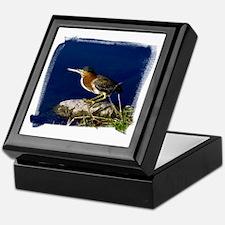 (16) Green-Backed Heron Keepsake Box