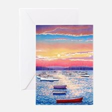 Light Trails of Summer Greeting Card