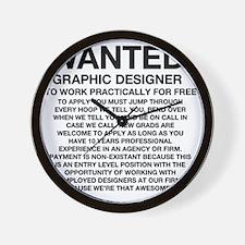 Wanted_Tee Wall Clock