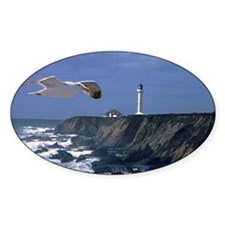 (3) lighthouse & seagull Decal
