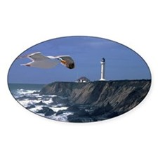 (2) lighthouse & seagull Decal